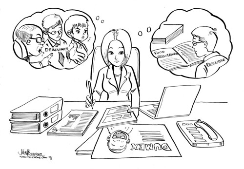 Cartoon illustration  for Daxone Dumex Singapore - Review materials