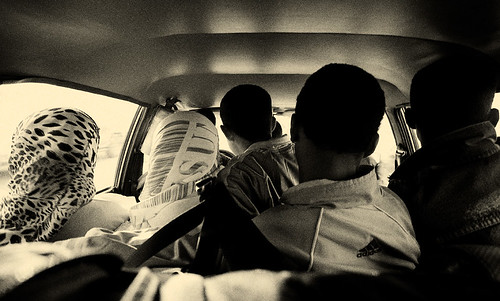 Eleven People in a Grand Taxi - Morocco