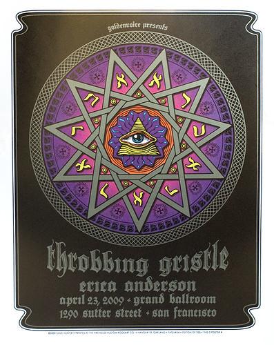 Throbbing Gristle poster, San Francisco 2009