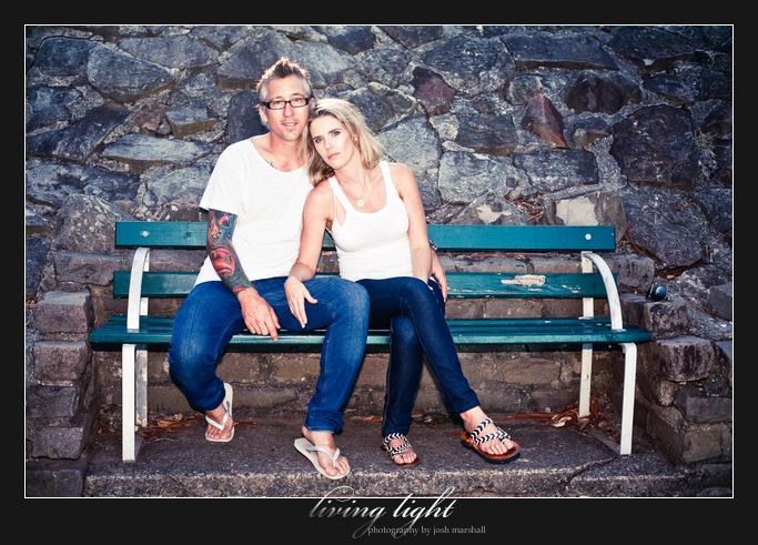 Couple portrait in Newcastle. King Edward Park.