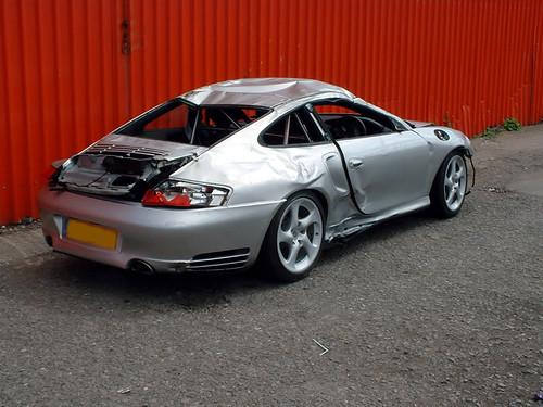 2002 Porsche 911 Gt2. Wrecked Porsche 911 GT2