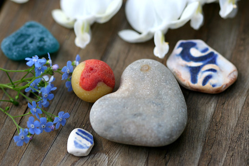 Still Life with Heart-Shaped Stone