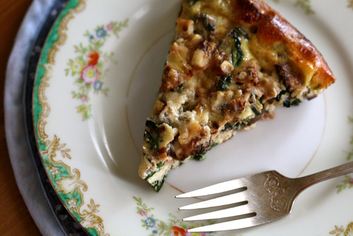 Crustless Quiche with Spinach and Mushrooms | Joy the Baker
