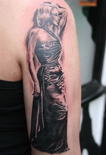 Marilyn Monroe tattoo by Mirek vel Stotker