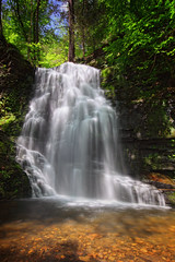 Bridal Veil Falls - Bushkill Falls Pennsylvania (Pear Biter) Tags: longexposure waterfall interestingness pennsylvania trails pikecounty delawarewatergap 1635mm bushkillfalls gnd poconomountains nd8 marshallscreek 5dmkii