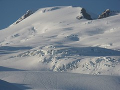 Easton Glacier and upper slopes (zoom picture from camp)