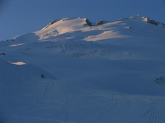 Evening light on the Easton Glacier