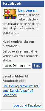Business.dk Facebook Connect