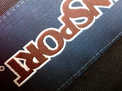 black logo label letters navy badge backpack jansport cloth
