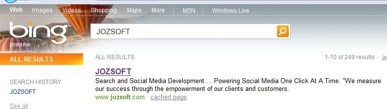 Bing results for JOZSOFT