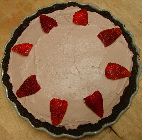 Chocolate Covered Strawberry Creme Pie