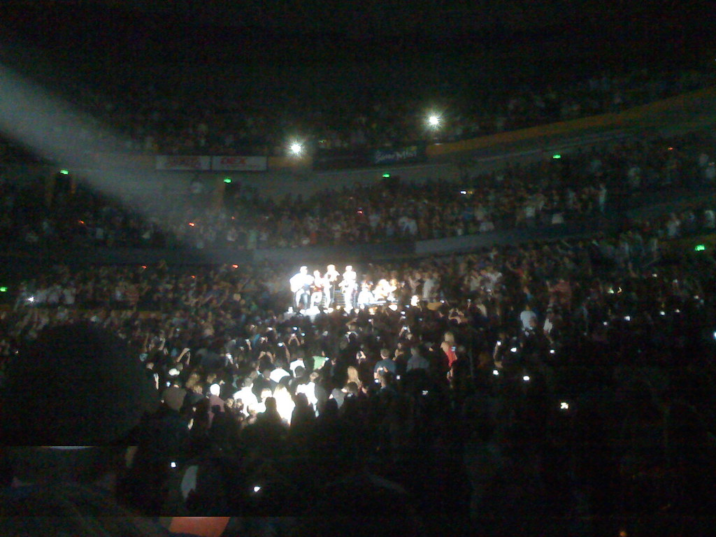 Coldplay moved to the back of the auditorium