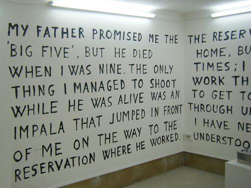 Text on Walls from Morten Viskum's 'The Black Hand' installation, near Arsenale, Venice Biennale, 2009