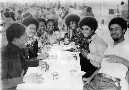 FDR High School Lunchroom Cafeteria Bruthas & Sistas Afros 1975