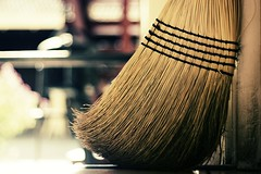I should start a group for photos of brooms (kaiton) Tags: door light summer home kitchen digital 50mm evening bokeh curves cleaning clean f18 broom 402 fakexpro notsomuch explored
