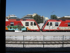 Larissa Station trains