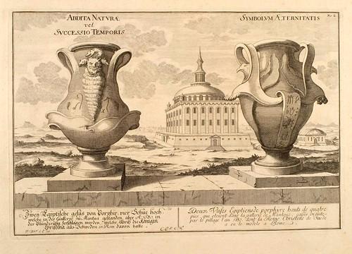 020- Dos vasijas egipcias de porfirio-Entwurf einer historischen Architektur 1721- © Universitätsbibliothek Heidelberg