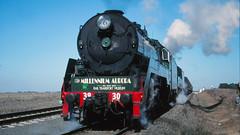 3830 and 3801 at Tatyoon Loop (michaelgreenhill) Tags: train 35mm geotagged slide victoria steam scanned steamtrain 3801 steamloco scannedslides 3830 milleniumaurora geo:lat=3751400841597037 geo:lon=1429420982730469 rpaunswc38class rpaunswc38class3830