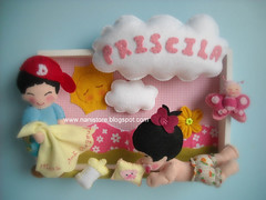 Welcome Priscila! (Nanistore) Tags: baby cute love babies sweet handmade dream adorable felt maternity feltro fieltro enfeitedematernidade nanistore maternitybox