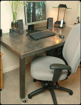 Working Hard Metal Computer Desk