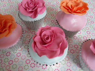 Large rose cupcakes by Cotton and Crumbs