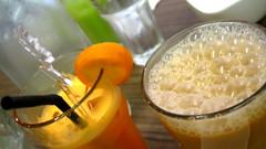 Juice (Sanctu) Tags: food orange coffee fruit cuisine cafe singapore tea drink juice lounge meal dining local teatime streetfood hawker tehtarik zichar