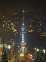 The Oriental Pearl Tower (keithmaguire ) Tags: world china city light people tower night river lights tv asia asien cityscape republic view shanghai nightshot centre peoples vista pearl asie  oriental pudong financial tvtower aasia asya  huangpu orientalpearltower azia azi sia  kulesi huangpuriver   chu  of  aplusphoto    zsia   mygearandme mygearandmepremium mygearandmebronze mygearandmesilver