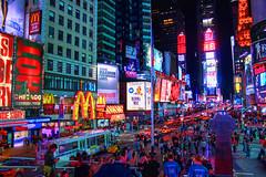 Times Square (Gary Burke.) Tags: nyc newyorkcity ny newyork skyline night canon buildings eos rebel lights colorful neon manhattan broadway landmark icon midtown timessquare gothamist dslr hdr theaterdistrict garyburke klingon65 t1i canoneosrebelt1i