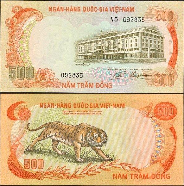 500 Dong Južný Vietnam 1972, P33