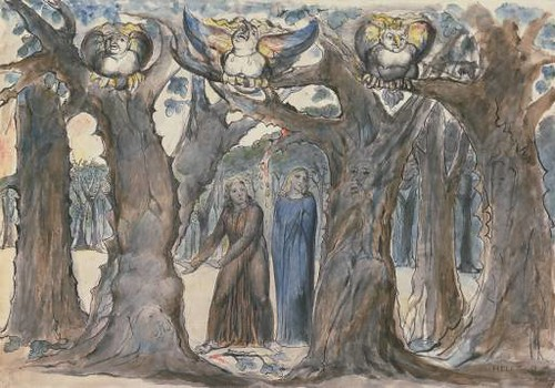 William Blake, The Wood of the Suicides