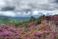 HDR Millstone Edge and view over Hope Valley 2