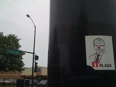 (theres no way home) Tags: wickerpark graffiti sticker aldi yob milwaukeeavenue blagojevich itsblago