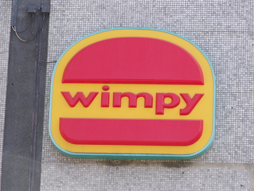 Signs on the former Megabowl, Pershore Street, Birmingham - Wimpy - sign