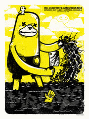 Mr. Oizo (AdamHanson) Tags: chicago illustration design dance screenprint cartoon electro smartbar gigposter flateric oizo mroizo adamhanson