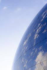 Globe terrestre? (Ghislain_0) Tags: paris parc villette cit des sciences architecture coucher de soleil terre globe espace light without flash nikon d90 50mm 18 geode