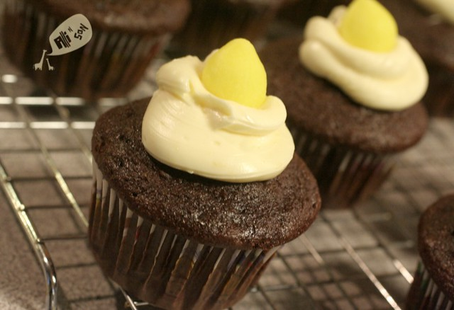 Lemon-Filled Chocolate Cupcakes