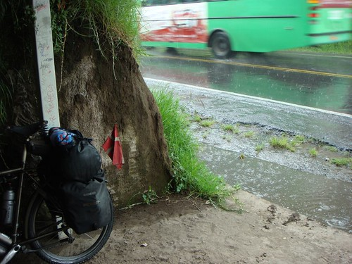 Shelter from the afternoon rains, NE of Quito, Ecuador.