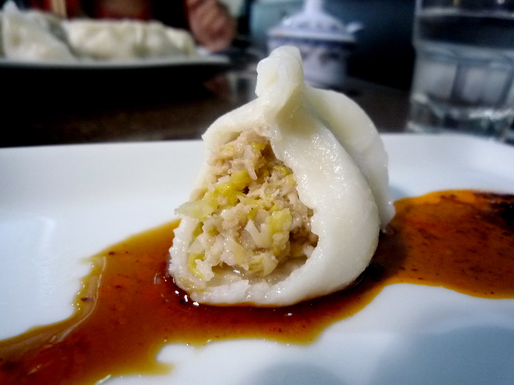 Pork and pickled cabbage dumpling