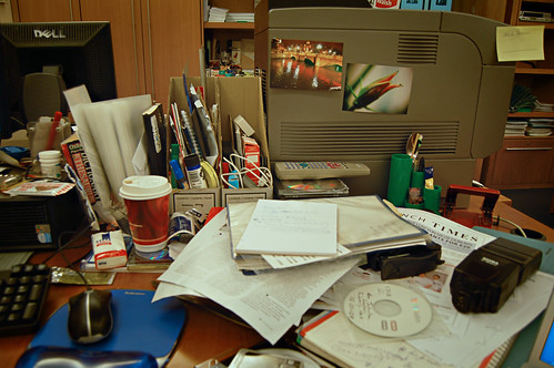 Must tidy desk