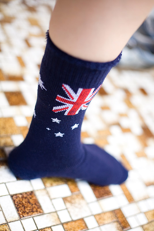 Socks for Australia Day
