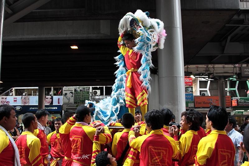 Lion Dance @ Silom, Bangkok, Thailand