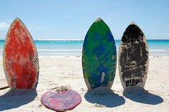 the odd one out (marin.tomic) Tags: ocean travel blue shadow sea beach water colors asian island sand nikon asia southeastasia surf philippines insel explore surfboard tropical boracay tropics gettyimages philippinen whitebeach d40