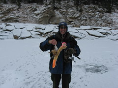 Me With a Gross Reservoir Lake Trout and Eric's Jig! (fethers1) Tags: icefishing laketrout grossreservoir grossresevoir