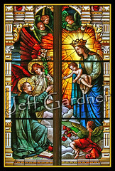 St. Stanislaus Kostka, Mary, and Jesus (*Jeff*) Tags: church window wisconsin catholic lily basilica mary jesus stainedglass milwaukee josaphat stanislauskostka