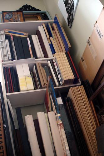 shelves of art