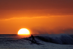Stand up as the sun goes down (ScottS101) Tags: ocean sunset beach hawaii waves pacific surfer wave surfboard kauai poipu bec anawesomeshot