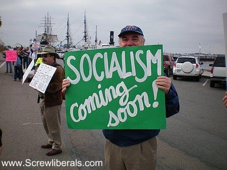 tea party, socialism