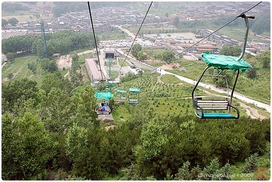 [中國山西]空中冒險。黛螺頂下索道
