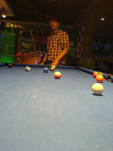pool game @ pub