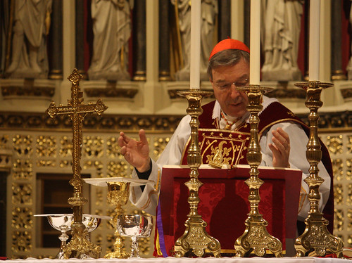 Cardinal Pell offers Mass in the Oxford Oratory